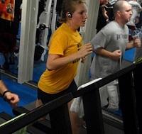 löpning på ett gym